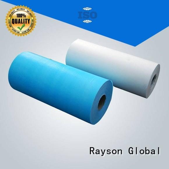 rayson nonwoven,ruixin,enviro Brand through spunlace ss custom non woven polyester fabric manufacturer