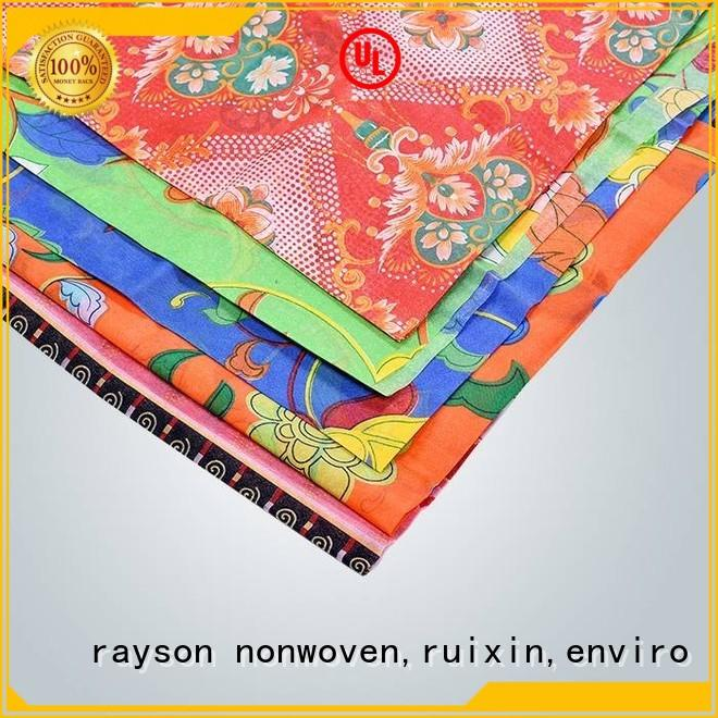 spunlace nonwoven fabric suppliers table disposable flower rayson nonwoven,ruixin,enviro Brand