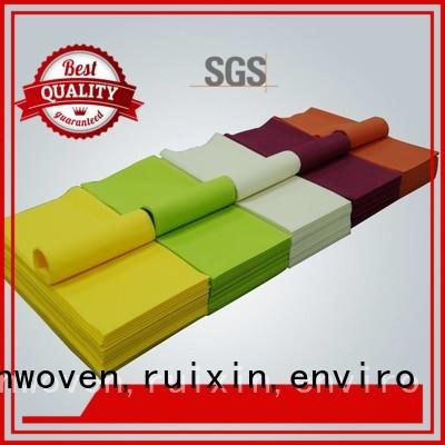 Wholesale cutting non woven tablecloth rayson nonwoven,ruixin,enviro Brand