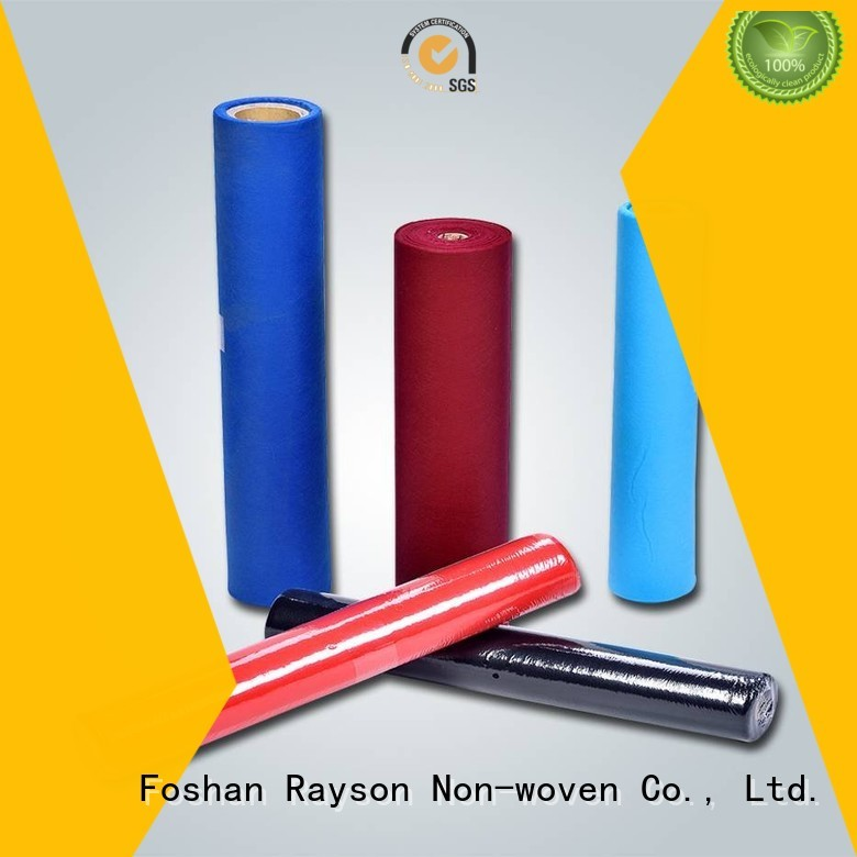 non woven polypropylene fabric suppliers color disposable table cloths rayson nonwoven,ruixin,enviro Brand
