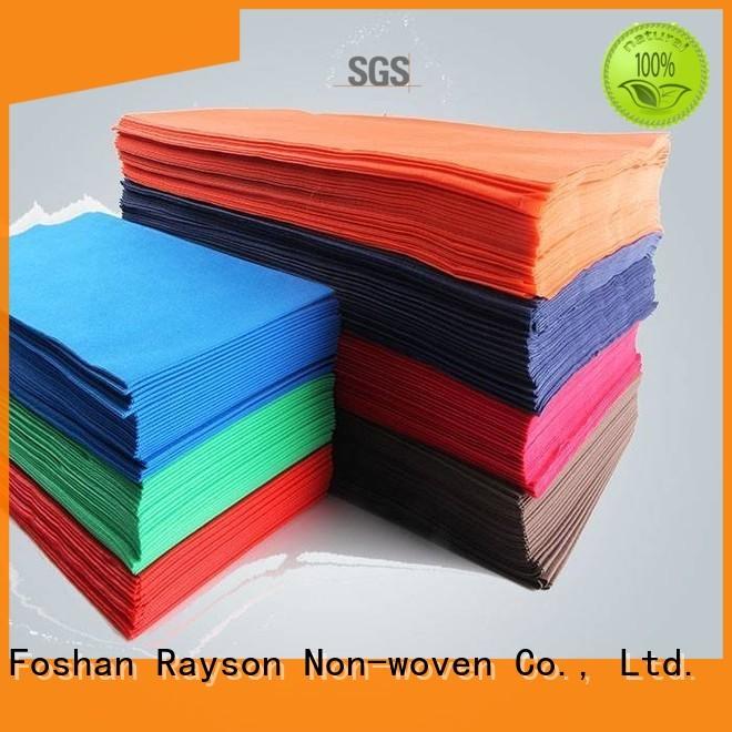 Rayson non-tissé, ruixin, enviro dégradable vert nappe directement vente pour l'emballage