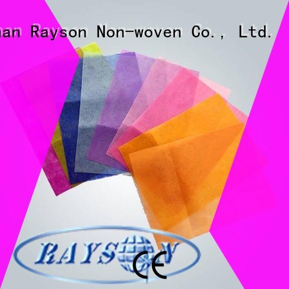 Rayson no tejido, ruixin, manteles redondos desechables enviro estables Venta Directa para embalaje