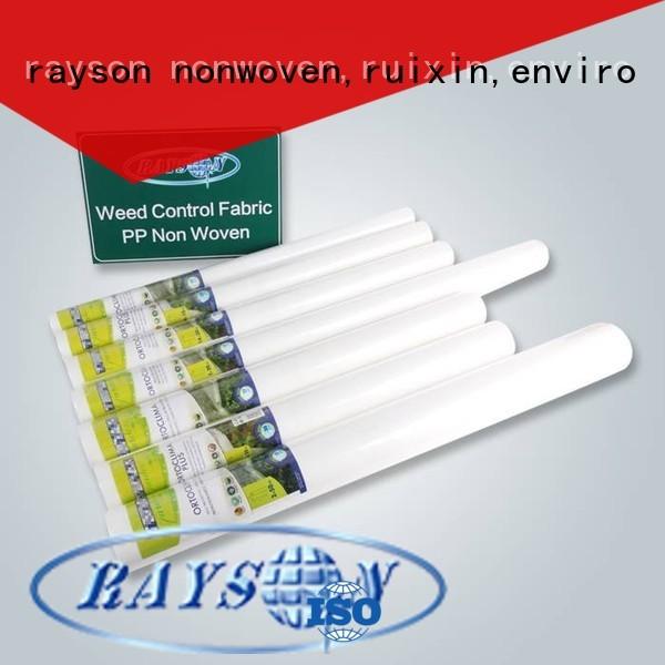 Rayson non-tissé, ruixin,enviro 25gr organiques contrôle des mauvaises herbes tissu fabricant pour intérieur
