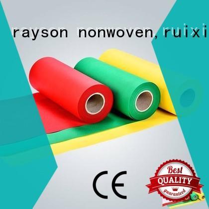 Rayson 부직포, ruixin, 환경 50 그램 투명 테이블 천으로 좋은 가격 bedsheet