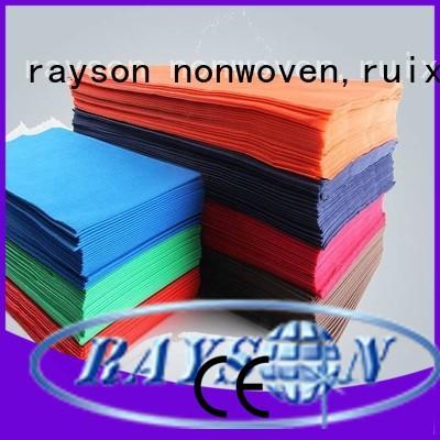non woven cloth colorfull tablecloths heat rayson nonwoven,ruixin,enviro Brand company