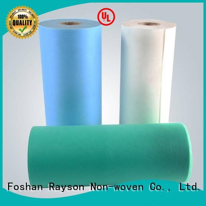 rayson nonwoven,ruixin,enviro Brand comfortable perforation non woven clothes roll supplier