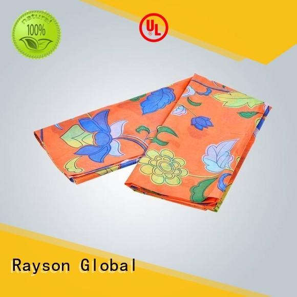 Rayson no tejido, ruixin, enviro distancia tela no tejida serie de materias primas para mantel