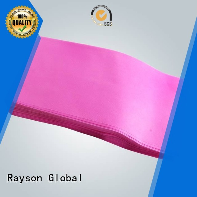 Custom pink spunbond pp non woven fabric price rayson nonwoven,ruixin,enviro 25gr