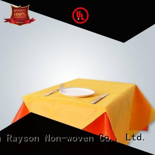 60g pattern non woven tablecloth rayson nonwoven,ruixin,enviro Brand
