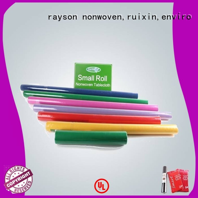 non woven cloth packed polypropylene rayson nonwoven,ruixin,enviro Brand non woven tablecloth