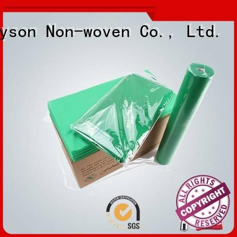 many green rayson nonwoven,ruixin,enviro Brand non woven tablecloth