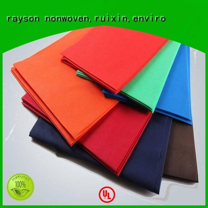lines accepted home non woven tablecloth rayson nonwoven,ruixin,enviro Brand company