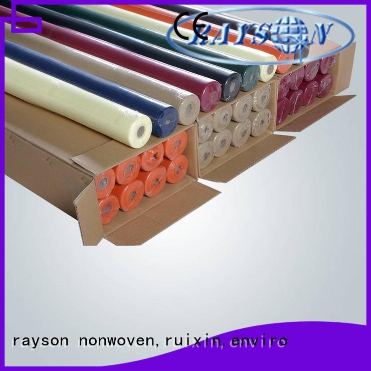 water disposable table cloths lamination rayson nonwoven,ruixin,enviro company