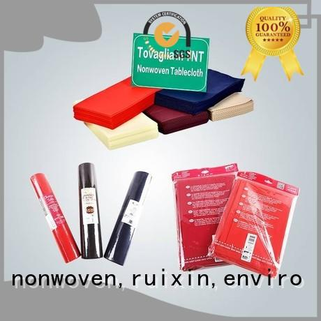 mr overseas non woven tablecloth runner rayson nonwoven,ruixin,enviro company