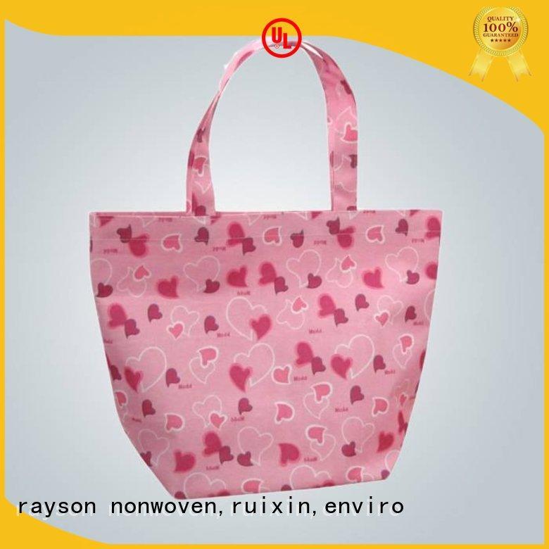 Rayson não tecida, ruixin, enviro impressão sacos não tecidos preço por kg de design de interiores