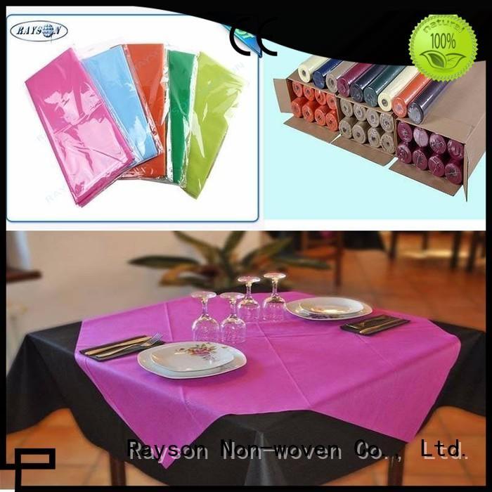 rayson nonwoven,ruixin,enviro Brand 60gsm tablecloths dualpurpose non woven cloth shopping