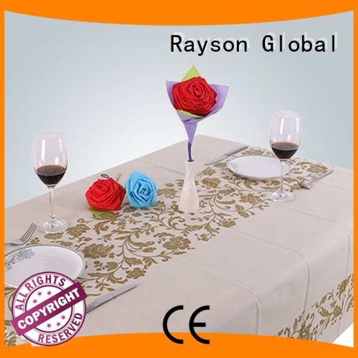 45 weight printed disposable table cloths rayson nonwoven,ruixin,enviro