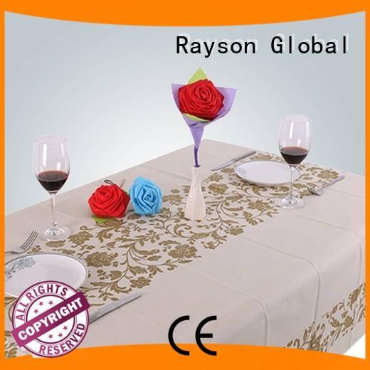 45 weight printed disposable table cloths rayson nonwoven,ruixin,enviro