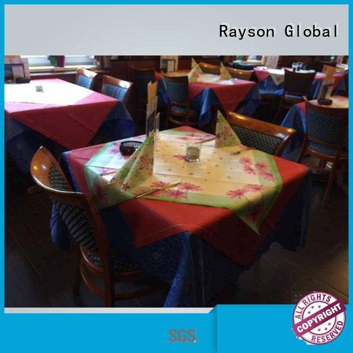 rayson nonwoven,ruixin,enviro Brand 38gsm 38g brand non woven tablecloth