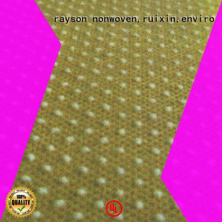 rayson nonwoven,ruixin,enviro dotted laminated non woven fabric supplier for hotel