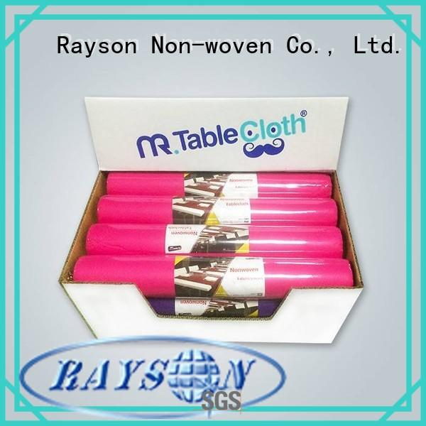 paper round 100cm non woven polypropylene fabric suppliers rayson nonwoven,ruixin,enviro Brand