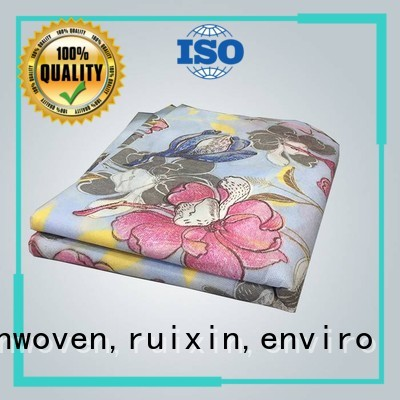 eco Custom design folded printed table covers rayson nonwoven,ruixin,enviro printed