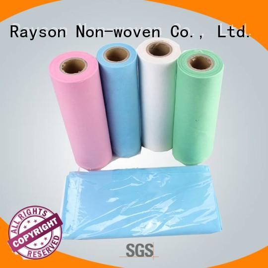 rayson nonwoven,ruixin,enviro Brand nontextile feeling non woven textile elogation factory