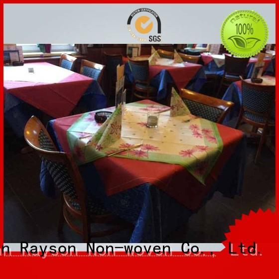 tabl 24m rayson nonwoven,ruixin,enviro Brand non woven tablecloth