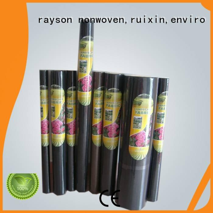 rayson nonwoven,ruixin,enviro protection 12 foot wide landscape fabric supplier for clothing