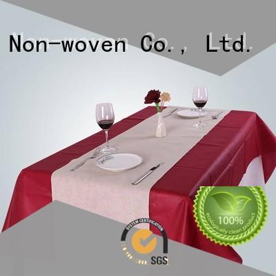 10 मीटर रंग की कुर्सी डिस्पोजेबल टेबल कपड़े रेसॉन nonwoven, ruixin, enviro ब्रांड